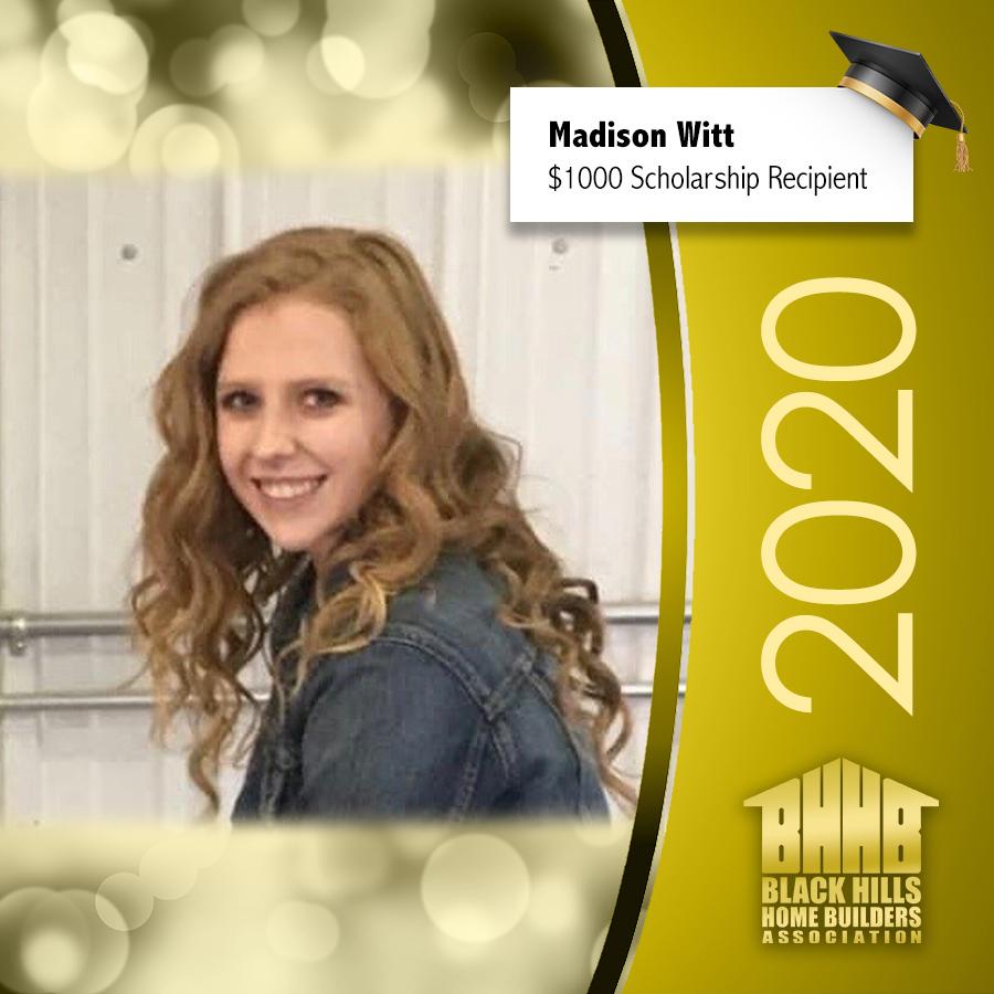 Madison Witt Scholarship Winner
