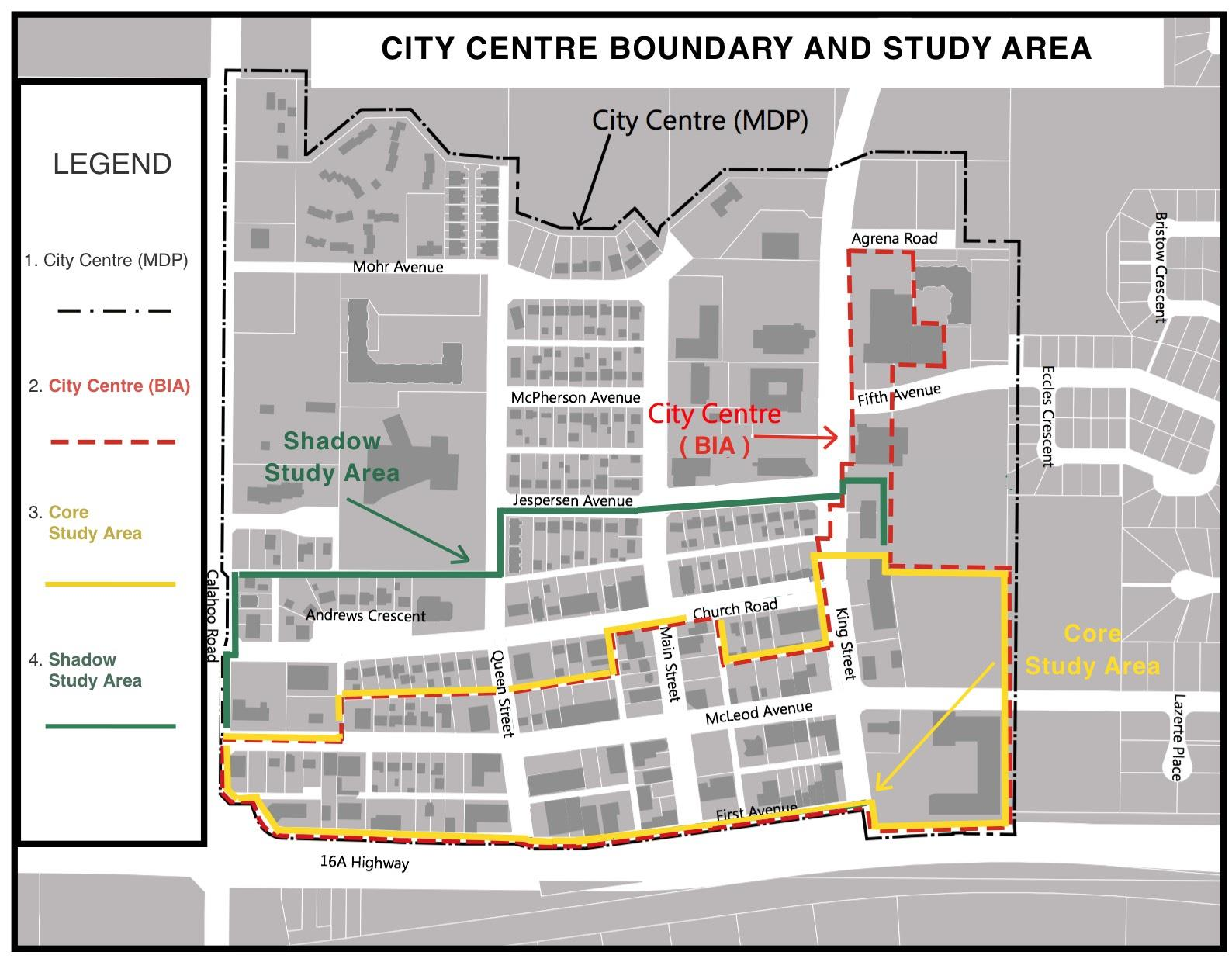 City Centre Study Areas
