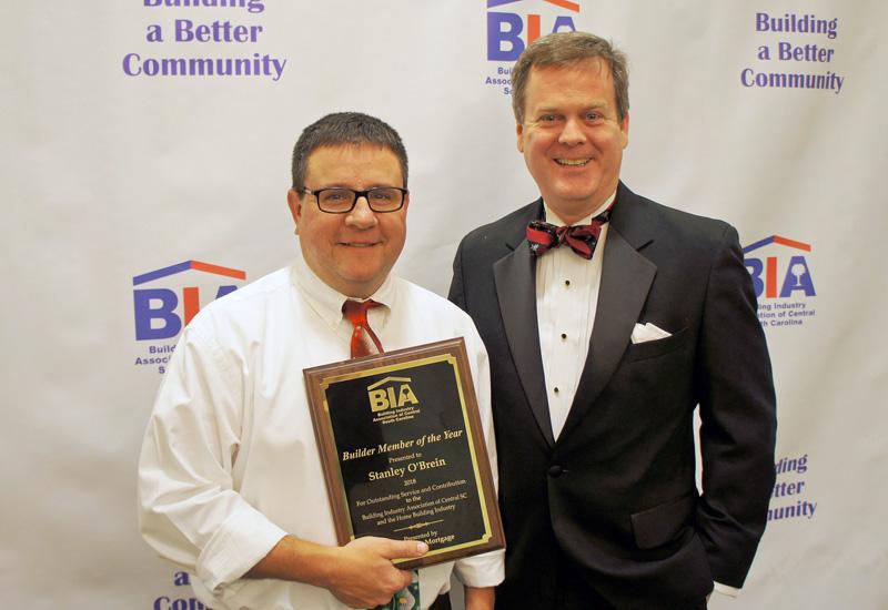 2018 BIA Builder Member of the Year Stan O'Brien
