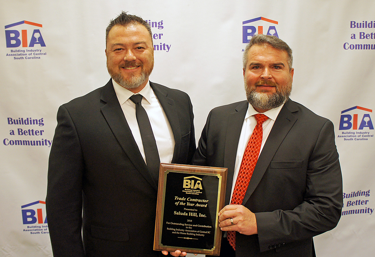 2018 BIA Trade Contractor of the Year Saluda Hill Inc.