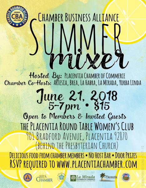 CBA Summer Mixer in Placentia